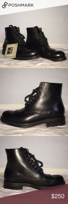 Frye Brayden Boots Sz 8 US Beautifully bench-crafted all leather Men's Frye Boots. The Brayden features waxed laces, rubber/leather sole, leather lining. Timeless style at a great price! Worn once, see above photo(s). Frye Shoes Boots