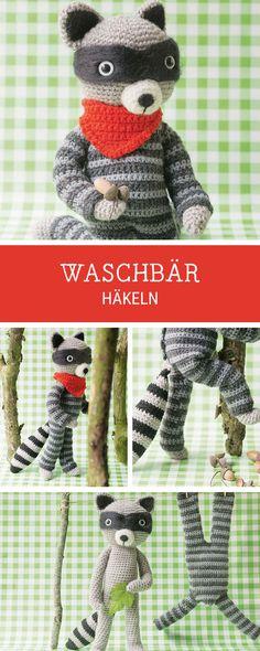 DIY-Häkelanleitung für ein Amigurumi Waschbär / diy crochet tutorial and pattern for a cute racoon via DaWanda.com