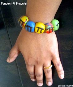 Edible Bracelet / Candy Jewellery / Fondant Bracelet / Pi Day
