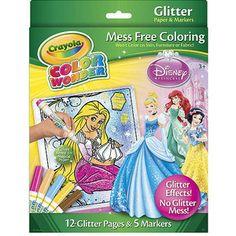 Crayola Color Wonder Glitter Coloring Set Disney Princess Crayola