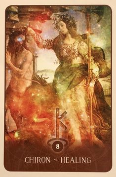 """February 25/2018 Daily Angel Oracle Card: Chiron ~ Healing, from the Black Moon Astrology Card deck, by Susan Sheppard Chiron ~ Healing: """"The wound is the place where the light enters you."""" ~ Rumi &#822…"""