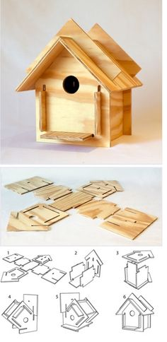 DIY: wooden birdhouse