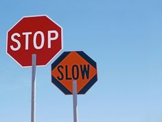 Stop and Slow paddles for traffic safety