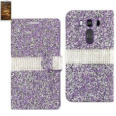 Reiko Bling Diamond Flip Case Lg V10/ H900/ Vs990/ H901 Purple