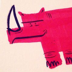 Real unicorns have curves #rhino #doodle #Illustration #ink #feedtheanimalspdx