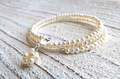 Bracelet with freshwater pearls by Charmecharming 28,00 €