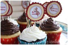 Curious George Birthday Cupcakes