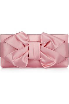 Valentino | Bow silk-satin clutch  | NET-A-PORTER.COM (except in a different color.. tiffany blue perhaps?)