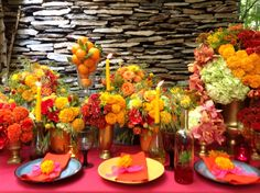 Jamie Aston Flower School in Seoul, Morroccan themed table dressing