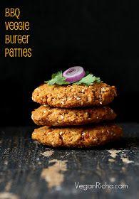 Smoky BBQ Veggie Burger Patties - Vegan