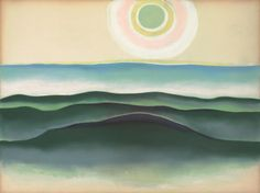 Georgia O'Keeffe (1887-1986) Sun Water Maine signed with initials 'OK' in artist's star device (on the backing board) pastel on paper laid down on board 19 x 25¼ in. (48.3 x 64.1 cm.) Executed in 1922