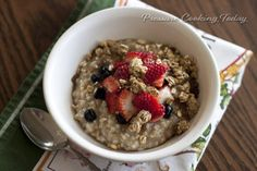 The pressure cooker is great for making Steel Cut Oats because they're softer and more worry free than when cooked on the stove.