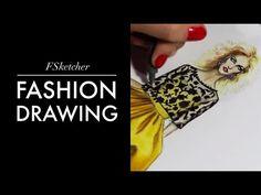 OSCAR DE LA RENTA SILK TAFFETA DRESS (P.2) | Fashion Drawing - YouTube