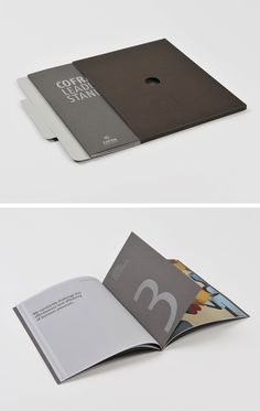Interesting page size variations and cover. Brochure by Team Impression / Design-led Print Services and Production Management Booklet Design, Book Design Layout, Print Layout, Album Design, Brochure Layout, Brochure Design, Packaging Design, Branding Design, Graphic Design Tattoos