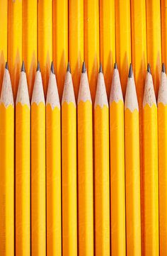 Yellow Pencils by sjlocke - Sean Locke | Stocksy United Shades Of Yellow, Repeating Patterns, Mustard Yellow, Yellow Line, Color Yellow, Bright Yellow, Yellow Fever, Colour Photography, Pattern Photography
