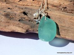 Sea Glass Necklace Seafoam Beach Glass Lake Erie by beachglassshop, $38.00