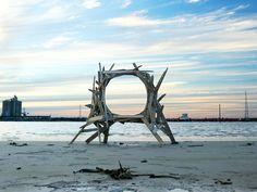 Love making stuff from trash.   Artist Transforms Beach Debris into Site Specific Installations   Junkculture
