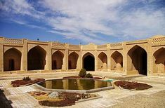 The Zein-o-Din Caravanserai is located in Zein-o-din, Yazd, Iran. The caravanserai dates to the century and is situated on the ancient Silk Road. Taklamakan Desert, Asian Continent, Iran Travel, Silk Road, Classical Architecture, Mediterranean Sea, Continents, Pakistan, Journey