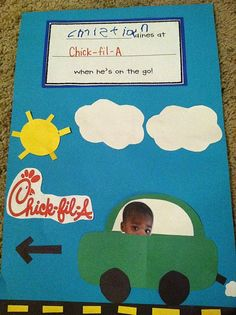 """environmental print book  Make a books about places you go...  """"We go to walmart""""  """"We go to Food Lion""""  """"We go to McDonalds""""    Before long your child will be reading and recongnizing the words/or word pattern in the books you create!"""