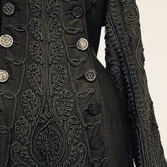 Ensemble ca. 1880 Beautiful braid work, now I want to see the rest of the outfit. Moda Fashion, Womens Fashion, Fashion Trends, Victorian Fashion, Vintage Fashion, Vintage Dresses, Vintage Outfits, Period Outfit, Looks Vintage