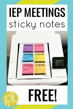 Never miss an IEP Meeting with these free sticky note reminders! Simply print and stick! From Positively Learning #iepnotes #iepmeetings
