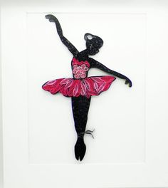 Papier piquants danseur / / Wall Art / / par MyLittleShopOnline