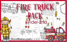 FREE Fireman and Fire Truck Printables