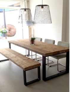 Today we bring you the best Dining Room Lighting Ideas to inspire you with different dining room lamps from contemporary lighting to modern lighting. Dining Room Lamps, Dining Room Lighting, Dining Room Design, Dining Table, Diy Table, Dining Rooms, Home Furniture, Furniture Design, Home Fashion
