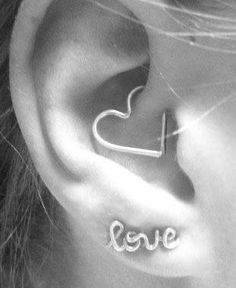 Heart Daith Piercings @MyBodiArt Rook, Daith, Cartilage Earrings, Human Ear, Etsy Shop, Beauty Hacks, Beauty Tips, Inner Ear, Ear Infection