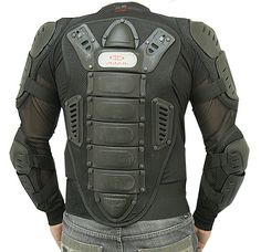 Motorcycle Racing Riding Full Body Armor Spine Protection Jacket w/ GP Armor Black – Best Motorcycles Motorcycle Style, Motorcycle Outfit, Motorcycle Helmets, Motorcycle Accessories, Motorcycle Jacket, Futuristic Motorcycle, Motorcycle Garage, Airsoft Girls, Airsoft Helmet