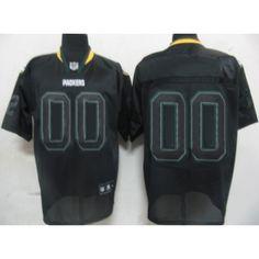 22cea5c9593 Green Bay Packers 00 Customized Black Sideline Field Shadow jersey