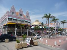 Aruba - where I got my blue diamond ring.  Very cool downtown.