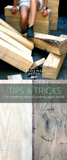 How to expertly hack up new wood to make it look old. With a few tools and tricks you can ding up a piece of wood to make it look like it's 100 years old.
