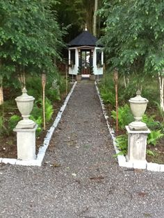 The Roseview garden folly and fernery.  Roseview Dressage, Millbrook, NY.