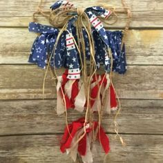 Stars and Stripes Fabric Pennant