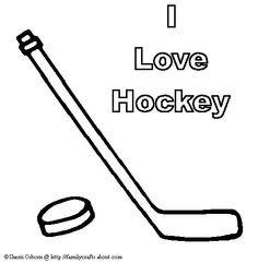i love hockey coloring page
