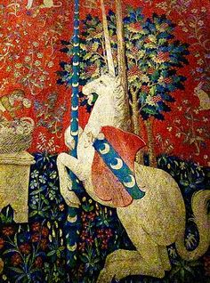 Detail From 'The Lady and the Unicorn' Tapestry Series -- Circa 1495-1505 -- The Metropolitan Museum of Art.