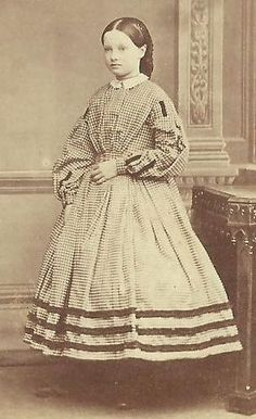 young girl day dress 1860 - Google Search