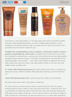 Even though its summer, watch out for harmful rays! Self tanning is safer, even though its not permanent!