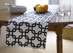 Black and White Table RunnerBLack Party Table by KikoyChic on Etsy, $18.00