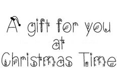 A-Gift-For-You-At-Christmas-Time-Mini-Clear-Stamp Clear Stamps, Clear Acrylic, Christmas Time, Sketches, Words, Mini, Gifts, Drawings, Presents