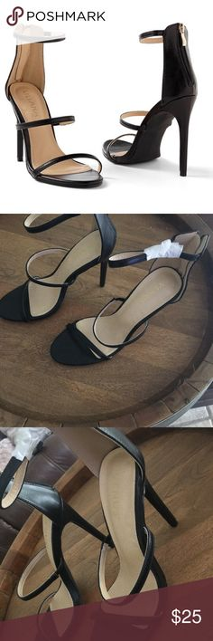 Strappy high heel- Venus brand Black high heels size 9. Brand new, straight from box, never worn VENUS Shoes Heels