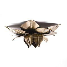 Plafonnière/Wandlamp+Bronzen+Bloem