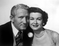 Spencer Tracy and Joan Bennett as Stanley and Ellie Banks in a promo photo for Father of the Bride (1950) -- Joan was known to some of the mid and younger Boomers as Elizabeth Collins Stoddard on TVs Dark Shadows ('66-'71)