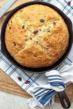 Sweet Irish Soda Bread has a golden, crunchy, sweet crust with a moist, buttermilk interior, and tangy cranberries dotted throughout. This easy quick bread recipe mixes up in minutes! Quick Bread Recipes, Cooking Recipes, Moist Irish Soda Bread Recipe, Free Recipes, Easy Recipes, Bread Cast, Flourless Chocolate Cookies, Gluten Free Pie, Gluten Free Irish Soda Bread Recipe
