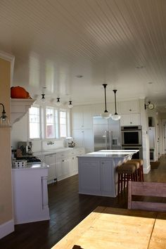 beadboard ceiling | Kitchen Inspiration Month: Day Five - Beadboard Ceilings