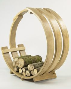 Wooden Log holder LOG LOOP GIANT by Tom Raffield #wood @tomraffield