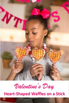 "Kids Meals A cute little heart-shaped waffle on a stick is the perfect way to say ""I love you"" this year. Paired up with chocolate and some yummy toppings, it's one delicious spread! - The perfect way to say ""I love you"" this year. Waffle Sticks, Waffles On A Stick, Waffle Iron Recipes, Waffle Bar, Valentines Day Treats, Kids Valentines, Valentine Cookies, Cute Food, Kids Meals"