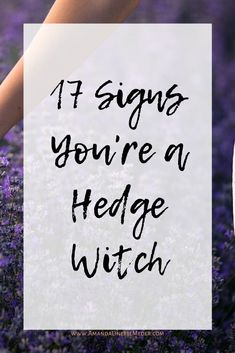 What are the signs you're a Hedge Witch? Find out in this post! Image by MireXa from Pixabay Woman's arm caressing lavender flowers with text overlay of title, 17 Signs You're a Hedge Witch. Hedges Landscaping, Garden Hedges, Hornbeam Hedge, Privacy Hedge, Red Robin Hedge, Murraya Hedge, Hedge Apples, Flower Hedge, Hair
