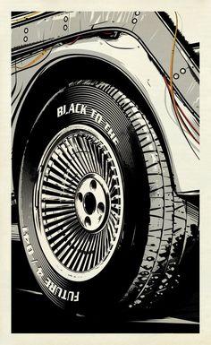 1985 Black to the Future / *suffix *grafik-design+animation The Future Movie, Back To The Future, Delorean Time Machine, Mundo Dos Games, Great Scott, Cinema Tv, Bttf, Science Fiction, Alternative Movie Posters